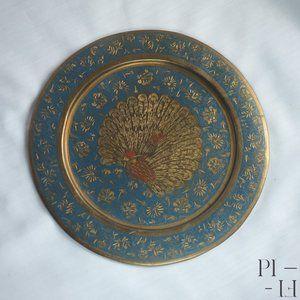 Amazing small brass decorative wall plate
